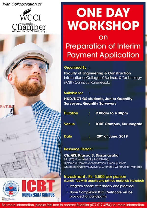 One Day Workshop on Preparation of Interim Payment Application
