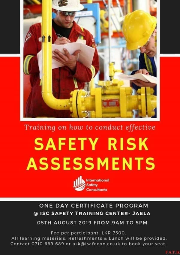 Safety Risk Assessments Training
