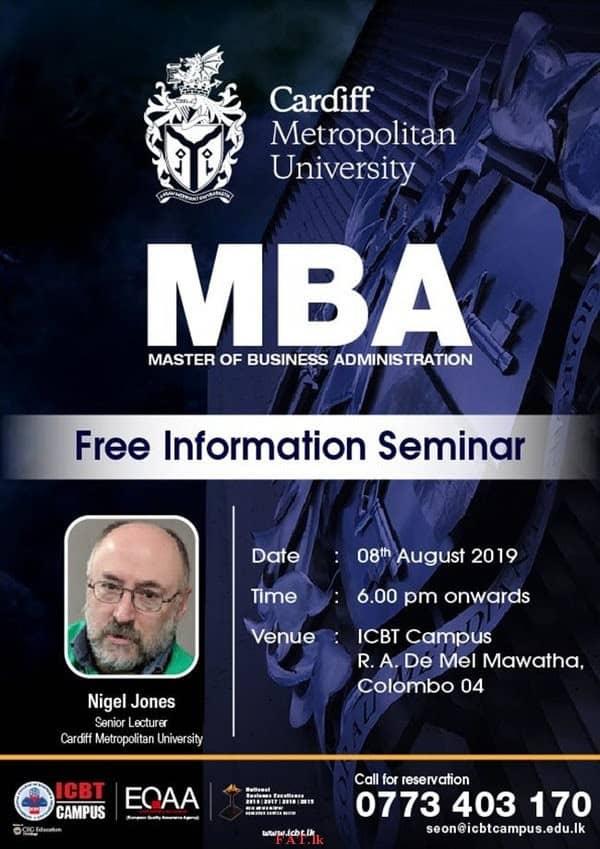 MBA - Free Information Seminar