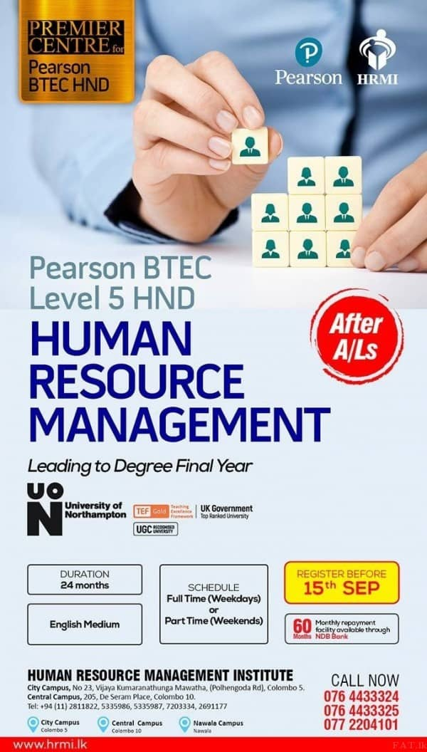 Pearson BTEC Level 5 - HND in Business HRM (Human Resource Management)