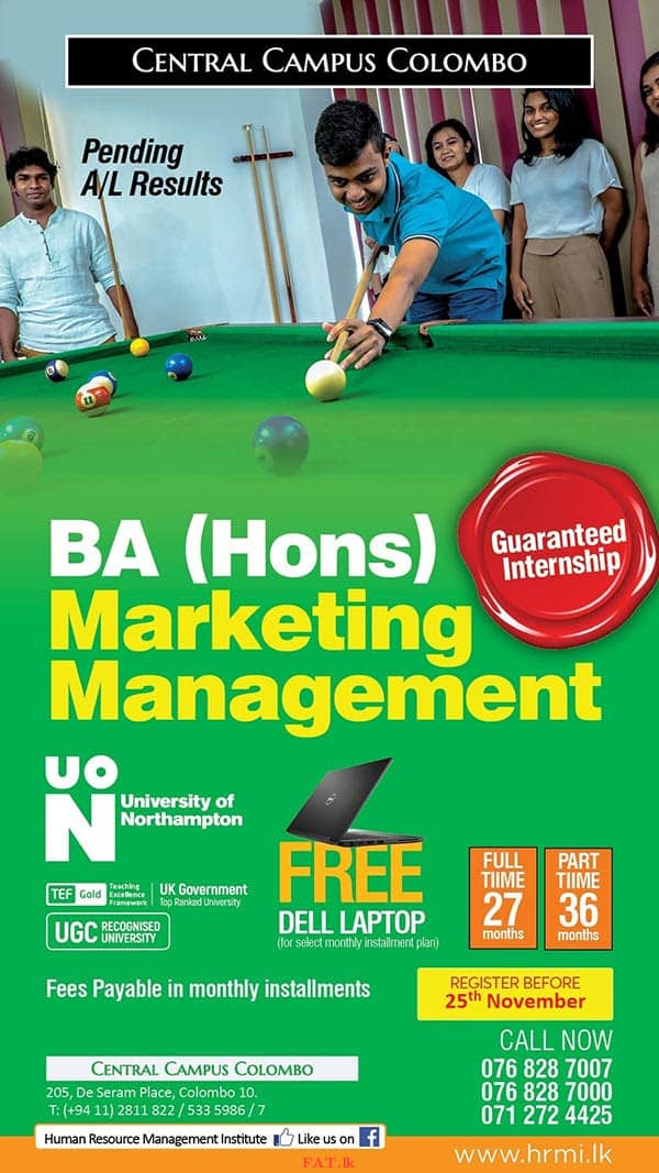BA (Hons) Marketing Management