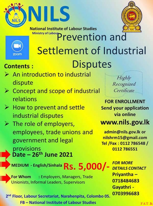 One day Workshop on Prevention and Settlement of Industrial Disputes