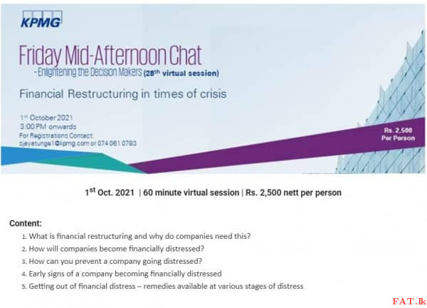 Financial Restructuring in times of crisis