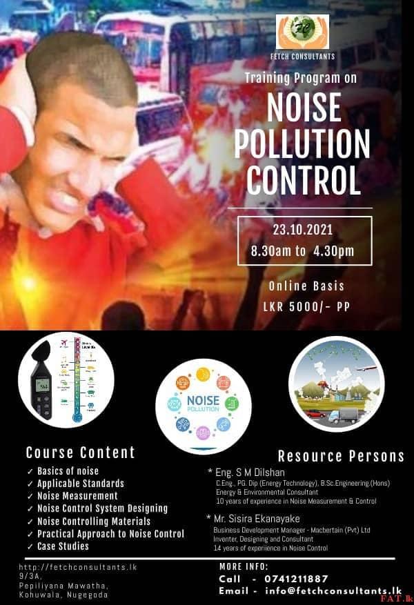 Training Program on Noise Pollution Control