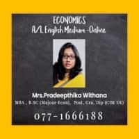 GCE AL Economics English medium