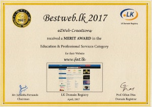 Bestweb 2017 - Merit Award Education and Professional Services Category