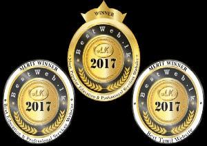 Bestweb 2017 - Three awards