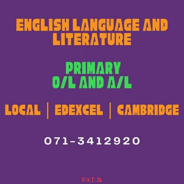 ஆங்கிலம் இலக்கியம் மற்றும் ஆங்கிலம் மொழி வகுப்புக்களை - Cambridge, உள்ளூர் மற்றும் Edexcelm1