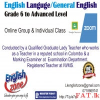 English for Grade 4 to 13, Spoken / written English Exams IWMS