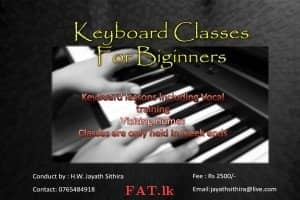 Keyboard and vocal lessons for Beginners