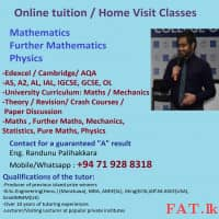 Home Visit / Small Group / Online Tuition for Maths, Further Mathematics, Physics