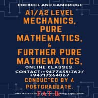 A/L Chemistry, Biology Physics, Maths and ICT or O/L Mathematics, ICT and Science classes