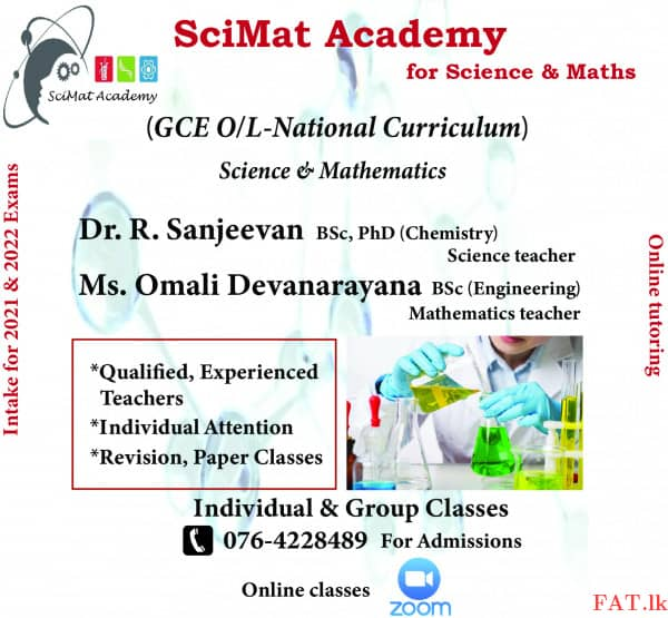 Chemistry, Biology, Physics, Mathematics and Science Classes for IGCSE, AS/IAL, GCE O/Lmt2