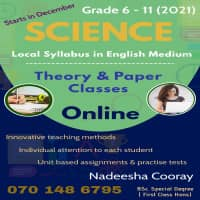 Science, Local Syllabus in English Medium - Grade 6 to 11 - Theory & Paper Classes