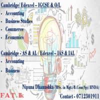 Edexcel - IGCSE, IAS & IAL / Cambridge- IGCSE, O/L, AS & AL- Accounting, Business Studies, Economics