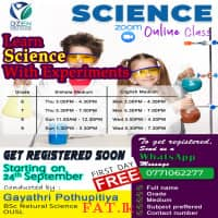 Learn Science with experiments. Come and join us