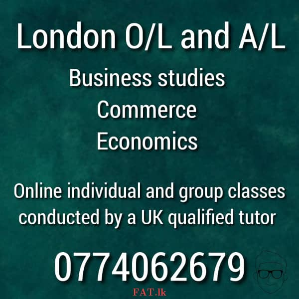 A UK qualified tutor conducting London O/L and A/L classes for Business, Commerce, Economicsmt1