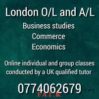 A UK qualified tutor conducting London O/L and A/L classes for Business, Commerce, Economics