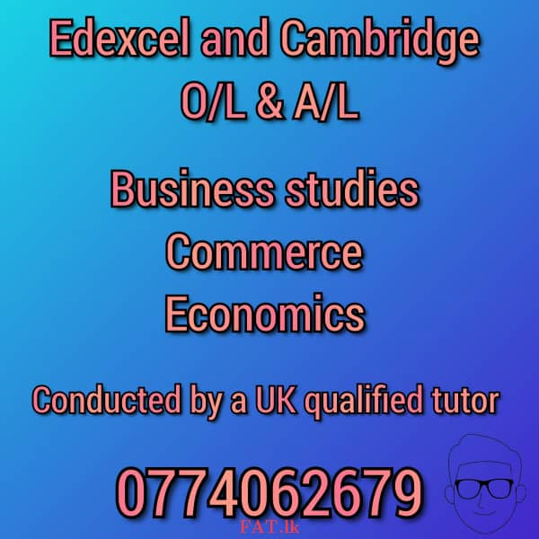 A UK qualified tutor conducting London O/L and A/L classes for Business, Commerce, Economicsmt3
