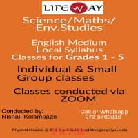 Local Syllabus English Medium classes for Primary students (Science, Maths, Env)