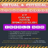 Zoom Online Classes - Maths, English, ICT, Spoken English and Grammar
