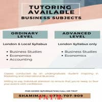 Tuition : Business Subjects