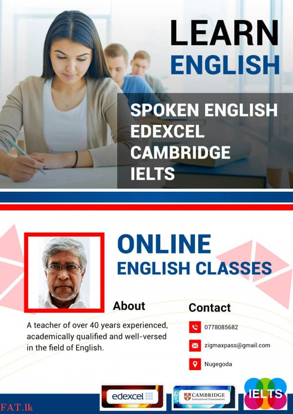 Teacher of English (IELTS / Spoken / Edexcel / Cambridge / Local etc.)mt2