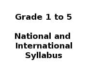 School Syllabus - Grade 1 to Grade 5