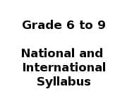 School Syllabus - Grade 6 to Grade 9