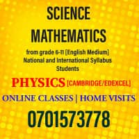 Profile Science (local and international syllabus) grade 6-11 [online / home visits]